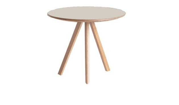 HAY - Copenhague CPH20 tafel - crèmewit - Eik gezeept - Ø 120 cm - 7