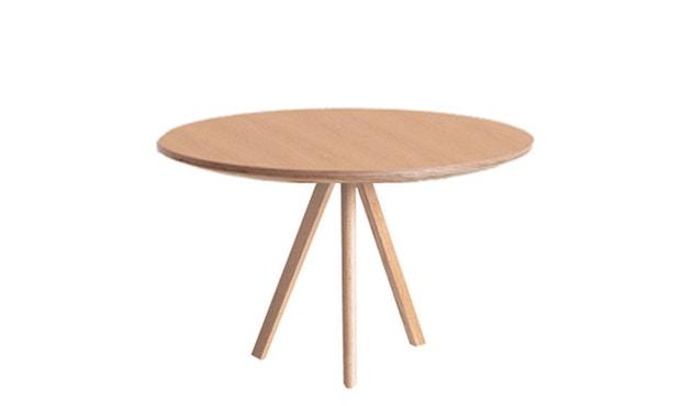 HAY - Copenhague CPH20 tafel - crèmewit - Eik gezeept - Ø 120 cm - 5