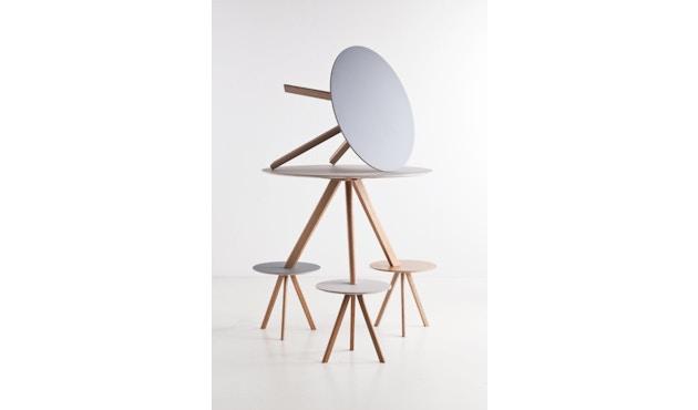 HAY - Copenhague CPH20 Tisch - Ø90 cm - Linoleum  grau - Gestell Eiche matt lackiert - 3