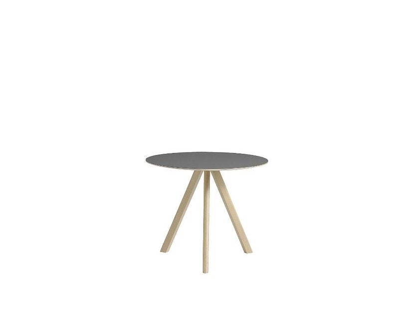 HAY - Copenhague CPH20 Tisch - Ø90 cm - Linoleum  grau - Gestell Eiche matt lackiert - 2
