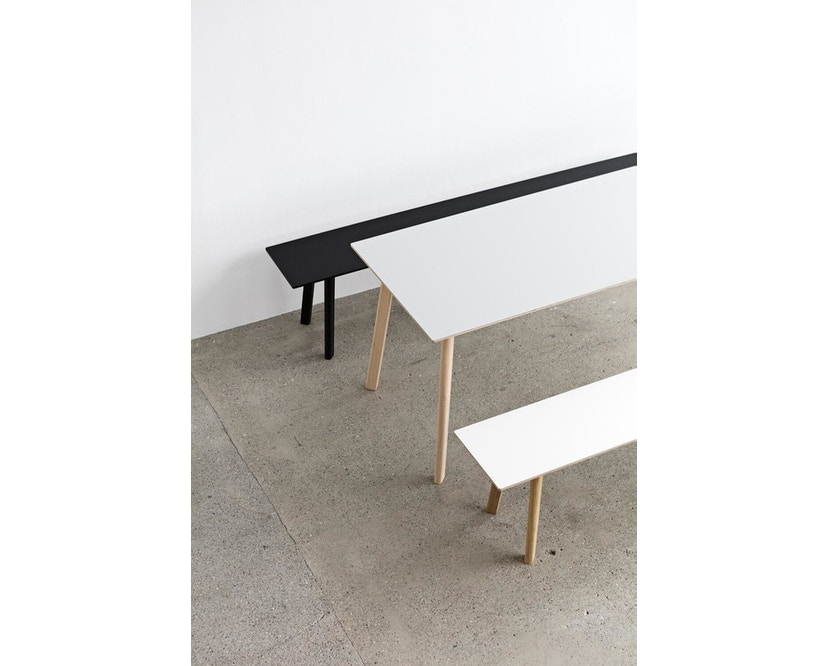 HAY - Copenhague Deux CPH 210 Tisch - Platte steingrau - Gestell Buche Natur - 140 x 75 cm - 3