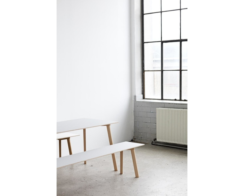 HAY - Copenhague Deux CPH 210 Tisch - Platte steingrau - Gestell Buche Natur - 140 x 75 cm - 6