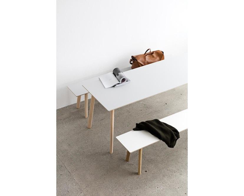 HAY - Table Copenhague Deux CPH 210 - Hêtre non-traité - gris poussière - 75 x 75 cm - 4