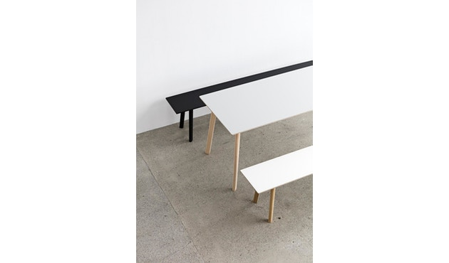 HAY - Copenhague Deux CPH 210 Tisch - Platte tintenschwarz - Gestell tintenschwarz - 200 x 75 cm - 3