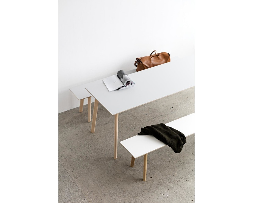 HAY - Copenhague Deux CPH 210 Tisch - Platte tintenschwarz - Gestell tintenschwarz - 200 x 75 cm - 4