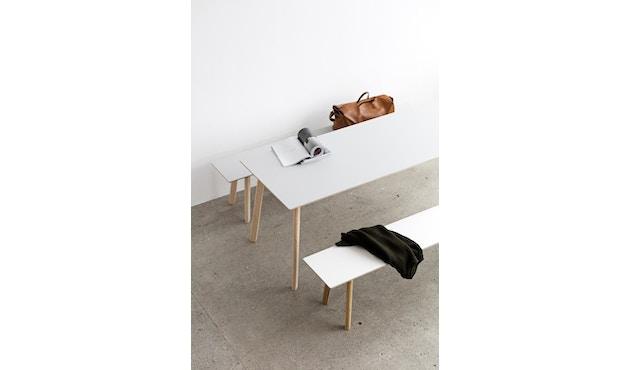 HAY - Copenhague Deux CPH 210 Tisch - Platte perlweiß - Gestell Buche Natur - 140 x 75 cm - 4