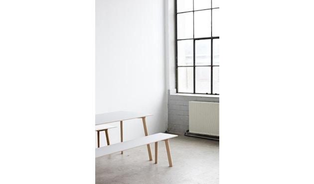 HAY - Copenhague Deux CPH 210 Tisch - Platte perlweiß - Gestell Buche Natur - 140 x 75 cm - 6