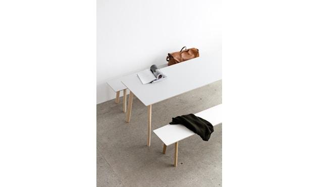 HAY - Copenhague Deux CPH 210 tafel - 75 x 75 cm - Beuk onbehandeld - parelwit - 4