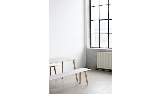 HAY - Copenhague Deux CPH 210 tafel - 75 x 75 cm - Beuk onbehandeld - parelwit - 6