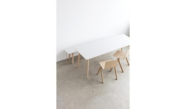 HAY - Banc Copenhague Deux CPH 215 - 140 x 35 cm - Hêtre non-traité - blanc perle - 3