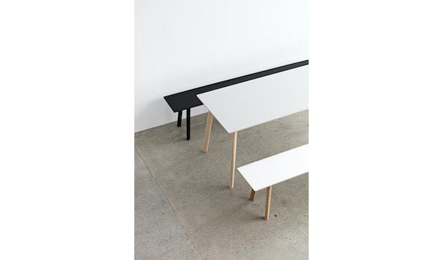HAY - Copenhague Deux CPH 215 Bank - Platte perlweiß - Gestell Buche Natur - 75 x 35 cm - 4