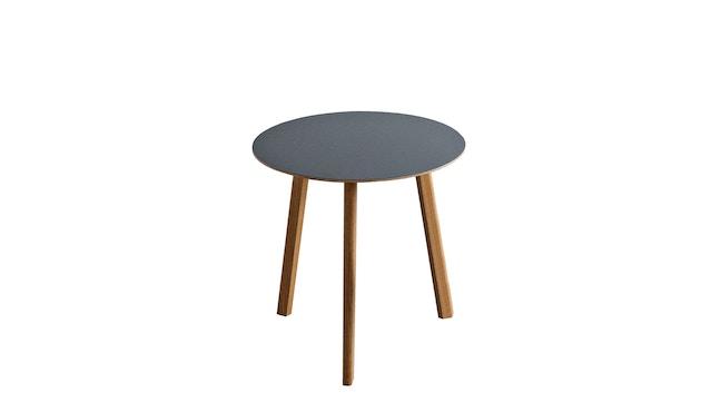 HAY - Copenhague Deux CPH 220 tafel - steengrijs - Ø 75 cm - Eik mat gelakt - 4
