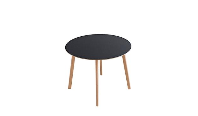 HAY - Copenhague Deux CPH 220 Tisch - Platte tintenschwarz - Gestell Eiche matt lackiert - Ø 98 cm - 1