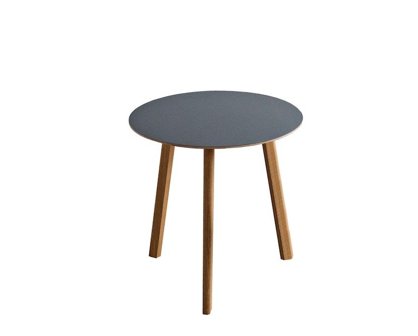 HAY - Copenhague Deux CPH 220 Tisch - Platte tintenschwarz - Gestell tintenschwarz - Ø 75 cm - 4