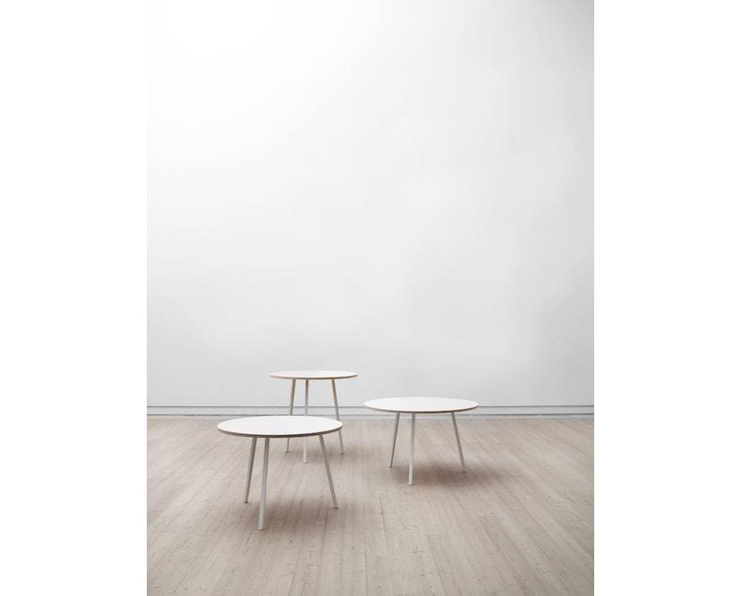 HAY - Loop Stand Round Table - 105 Ø - wit - Ø 105 cm - zwart - 5