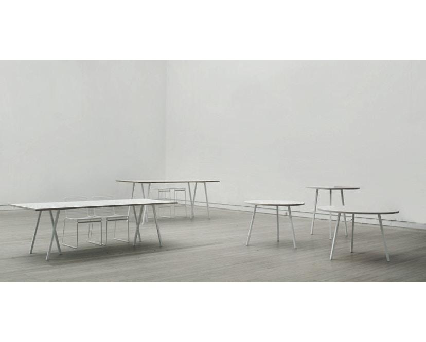 HAY - Loop Stand Round Table - 105 Ø - wit - Ø 105 cm - zwart - 6