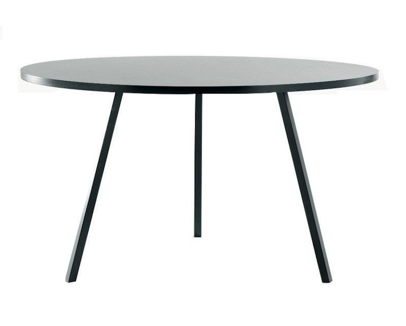 HAY - Loop Stand Round Table - 105 Ø - wit - Ø 105 cm - zwart - 3