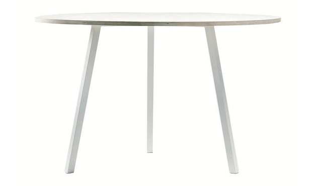 HAY - Loop Stand Round Table - 105 Ø - weiß - 3