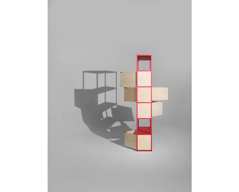 HAY - New Order Regal 2 - charcoal - Tür Esche natur - 3