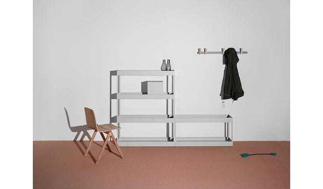 HAY - New Order Regal 2 - light grey - Tür Eiche natur - 2