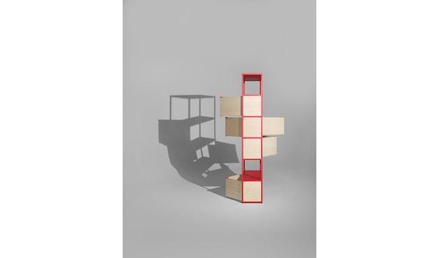 HAY - New Order Regal 2 - light grey - Tür Eiche natur - 3