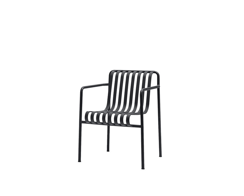 HAY - Palissade Dining Arm Chair - anthracite - 1