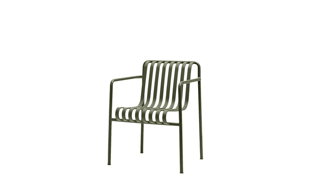 HAY - Palissade Dining Arm Chair - olive - 1