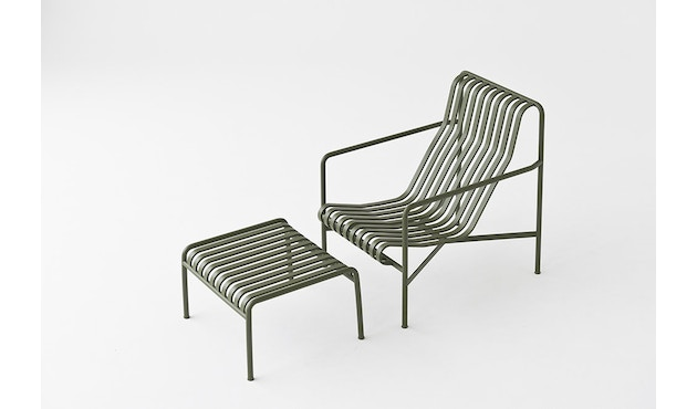 HAY - Palissade Lounge Chair High - olijf - 3