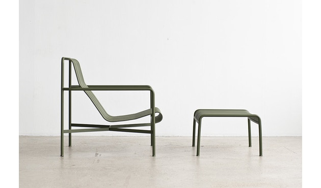 HAY - Palissade Lounge Chair High - olive - 4