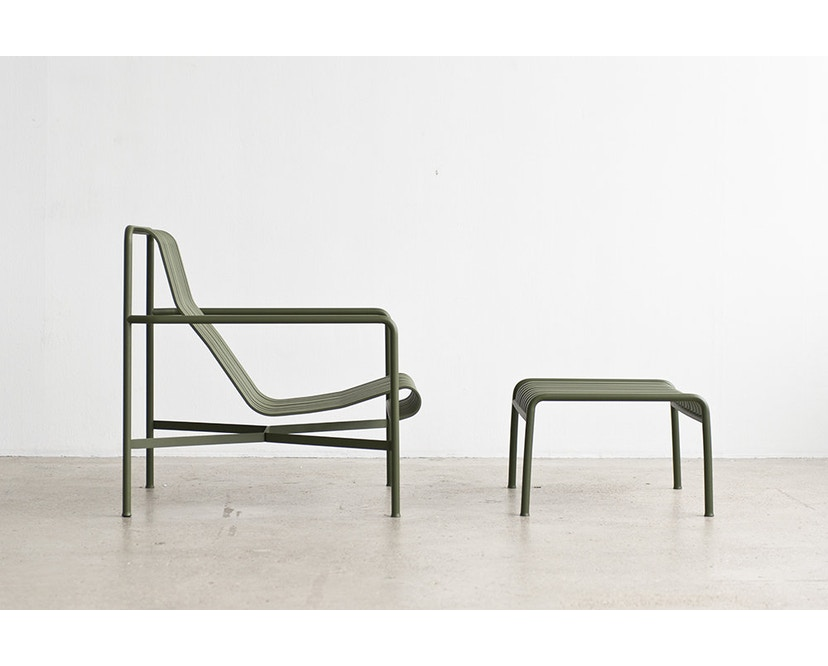 HAY - Palissade Lounge Chair High - olijf - 4