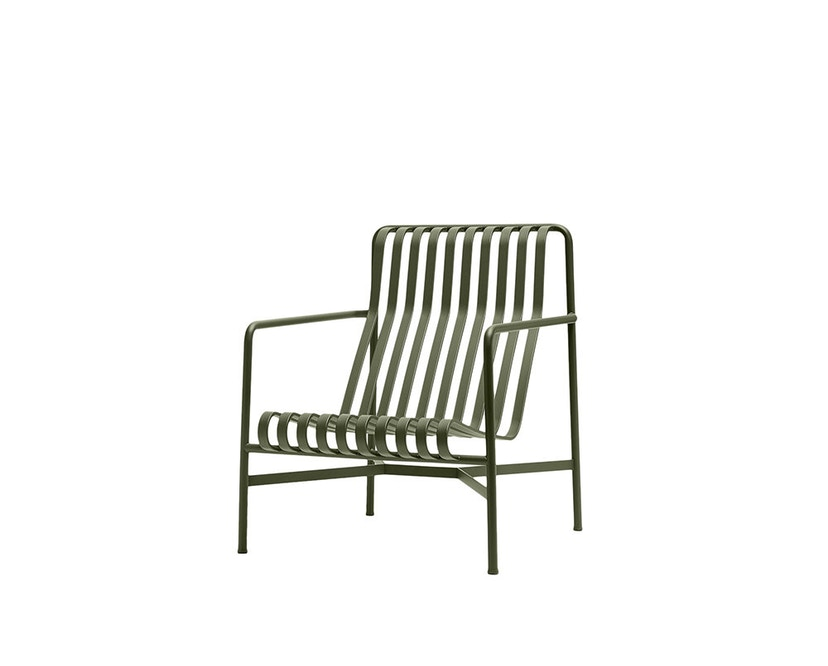 HAY - Palissade Lounge Chair High - olijf - 1