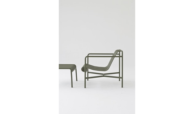 HAY - Palissade Lounge Chair Low - sky grey - 4