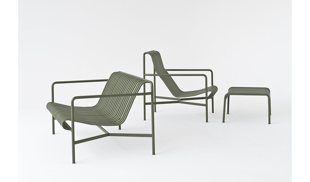 HAY - Palissade Lounge Chair Low - sky grey - 7
