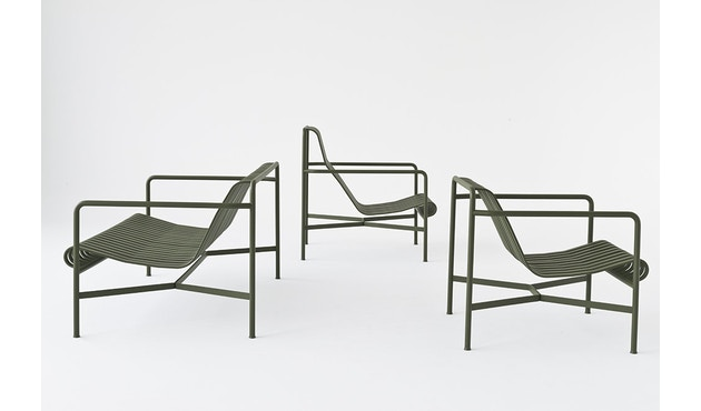 HAY - Palissade Lounge Chair Low - olive - 6