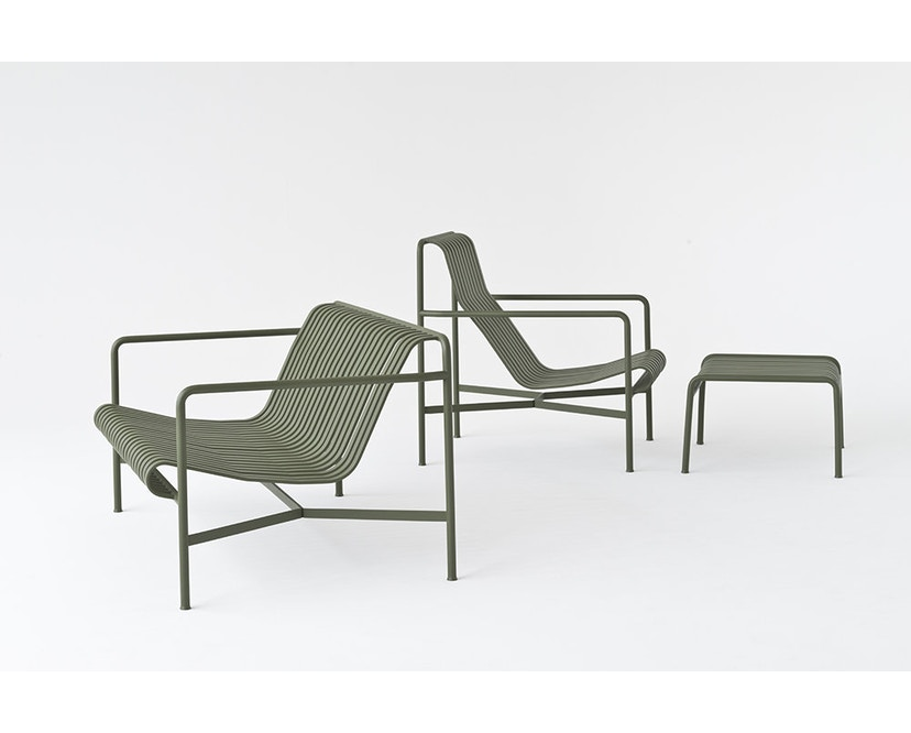 HAY - Palissade Lounge Chair Low - olive - 7