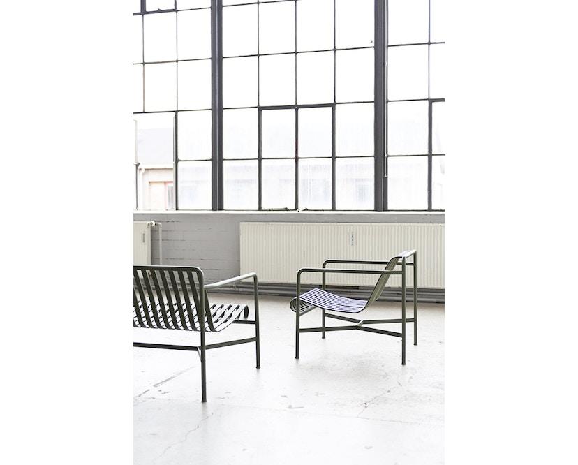 HAY - Palissade Lounge sofa - olive - antraciet - 3