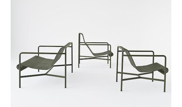 HAY - Palissade Lounge sofa - olive - antraciet - 4