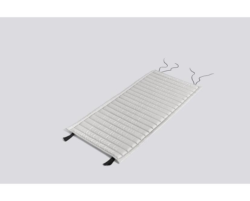 HAY - Sitzauflage für Palissade Dining Arm Chair - gesteppt - sky grey - 1