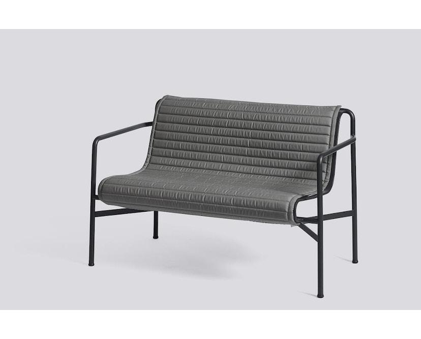 HAY - Sitzauflage für Palissade Dining Bench - gesteppt - anthrazit - 2