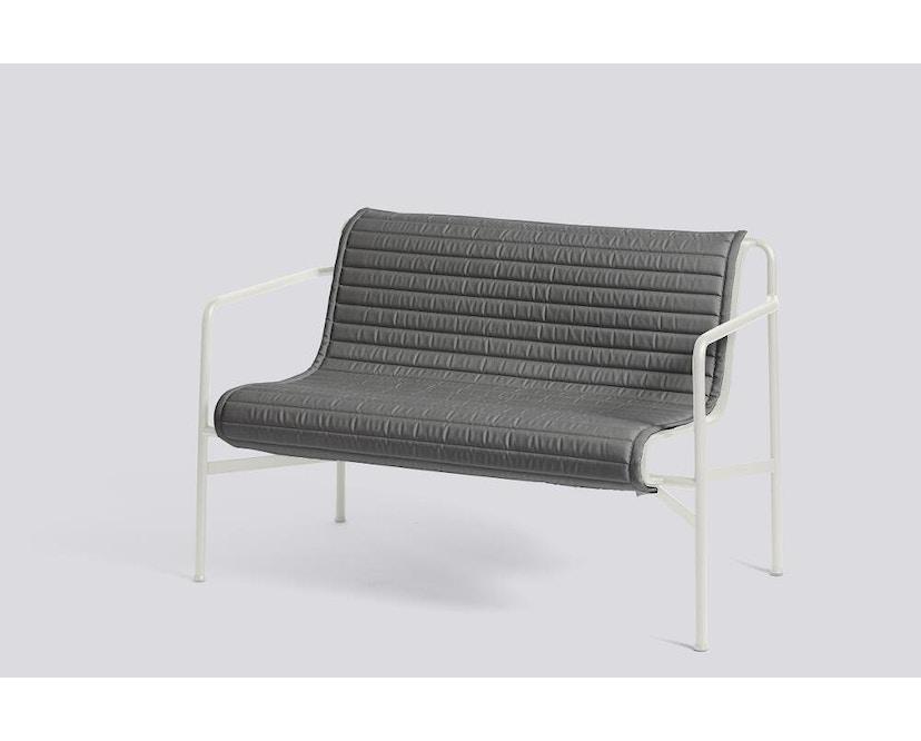 HAY - Sitzauflage für Palissade Dining Bench - gesteppt - anthrazit - 3