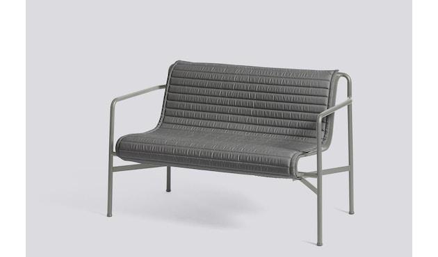 HAY - Sitzauflage für Palissade Dining Bench - gesteppt - anthrazit - 4