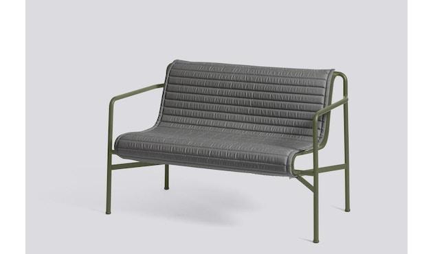 HAY - Sitzauflage für Palissade Dining Bench - gesteppt - anthrazit - 5
