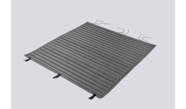 HAY - Sitzauflage für Palissade Dining Bench - gesteppt - anthrazit - 1