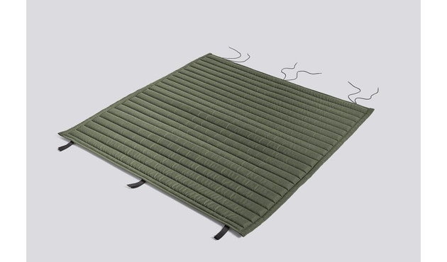 HAY - Sitzauflage für Palissade Dining Bench - gesteppt - olive - 1
