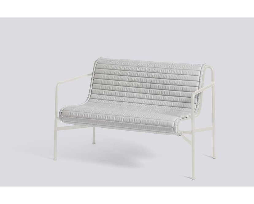 HAY - Sitzauflage für Palissade Dining Bench - gesteppt - sky grey - 4