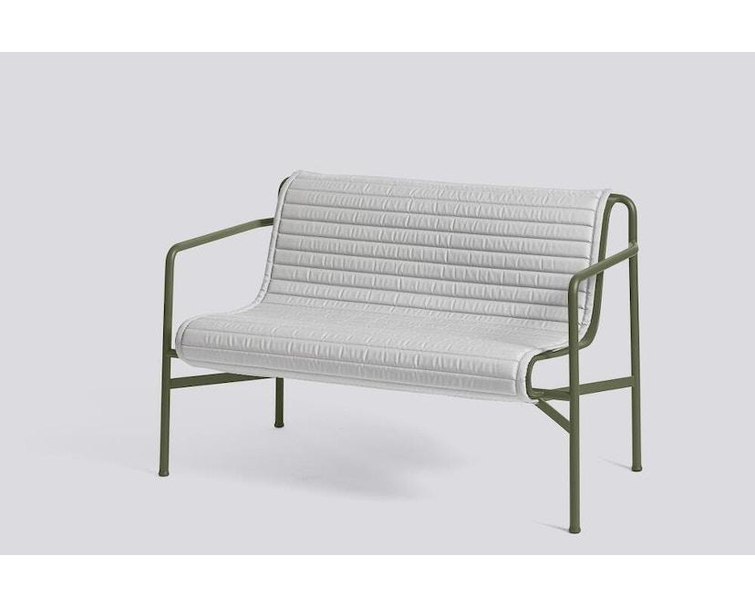 HAY - Sitzauflage für Palissade Dining Bench - gesteppt - sky grey - 5