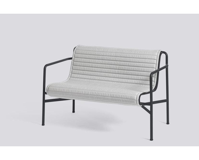 HAY - Sitzauflage für Palissade Dining Bench - gesteppt - sky grey - 6