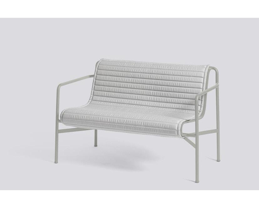 HAY - Sitzauflage für Palissade Dining Bench - gesteppt - sky grey - 7