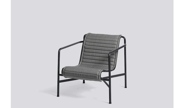 HAY - Sitzauflage für Palissade Lounge Chair High - anthrazit - gesteppt  - 2