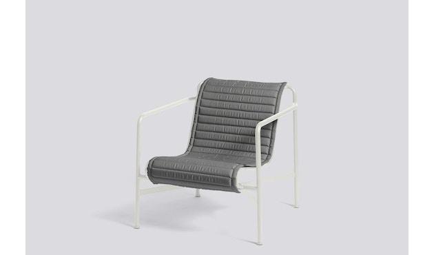 HAY - Sitzauflage für Palissade Lounge Chair High - anthrazit - gesteppt  - 3